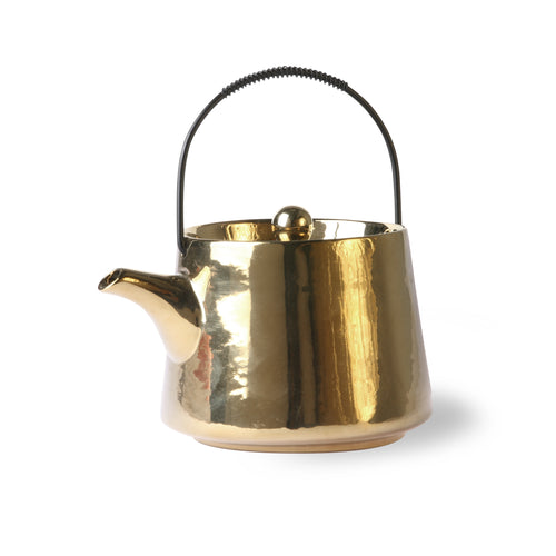 Gold Ceramic Teapot