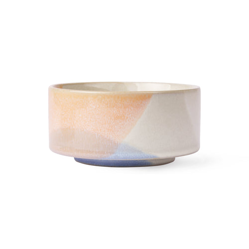 Side Bowl - Blue / Peach