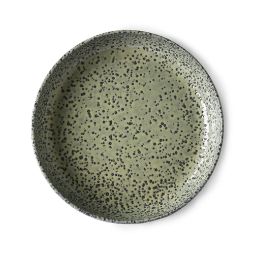 Set of Two Deep Plates Green