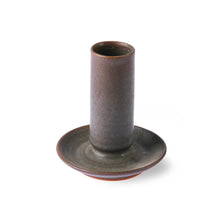 Load image into Gallery viewer, Ceramic Brown Taper Candle Holder