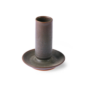 Ceramic Brown Taper Candle Holder