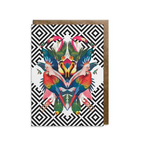 Geometric Aviary Greeting Card