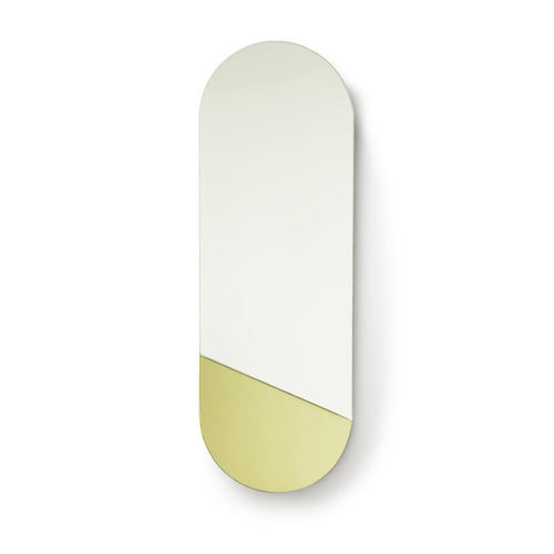 Oval Mirror M - Gold Detail