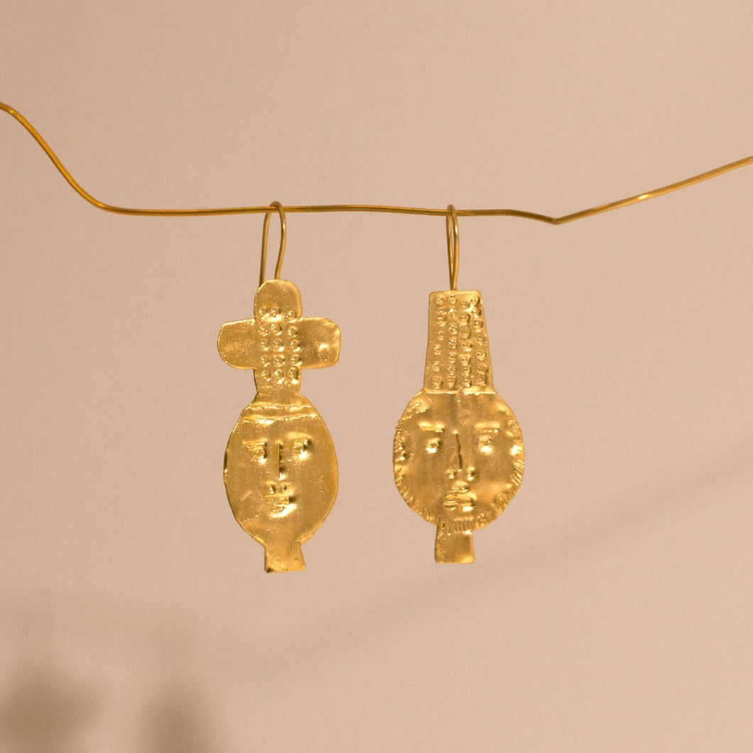 Dos Gold Plated Earrings