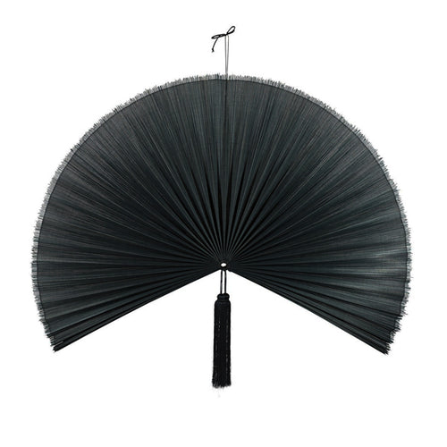 Wallhanging Bamboo Black Fan Large
