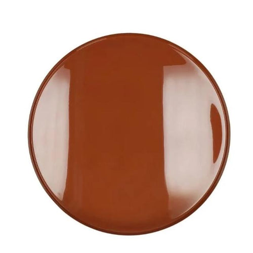 Flex side table with enamel caramel tray