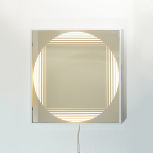 "Fontana Arte ""Brama"" Illuminated Mirror  by Gianni Celada 1970's"