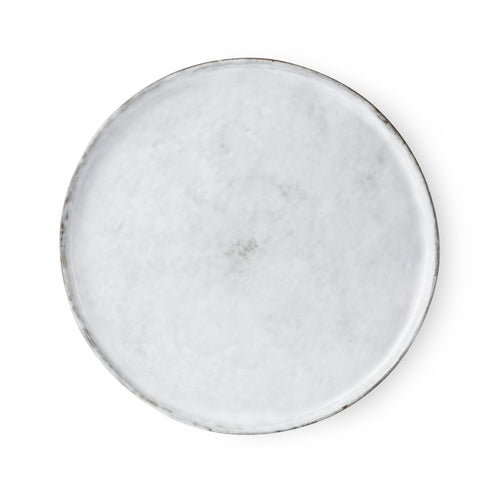 White-washed Round Dinner Plate
