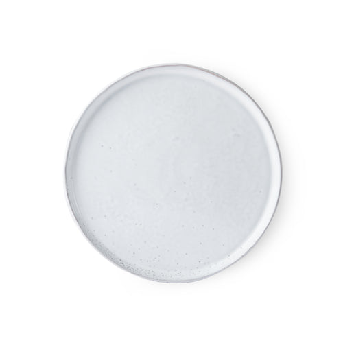 White-washed Round Breakfast Plate