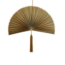 Load image into Gallery viewer, Wallhanging Bamboo Copper Fan Small