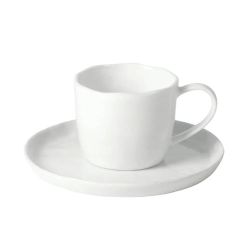 Porcelino White Cup and Saucer