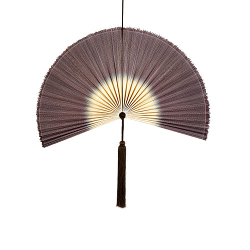 Wallhanging Bamboo Tie-Dye Brown Fan