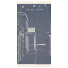 Load image into Gallery viewer, La Grece Feather Beach Towel