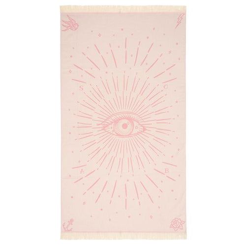 Third Eye Feather Beach Towel