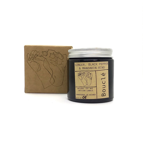 Ginger Black Pepper & Mandarin Rind Soy Wax Candle (120 ml)