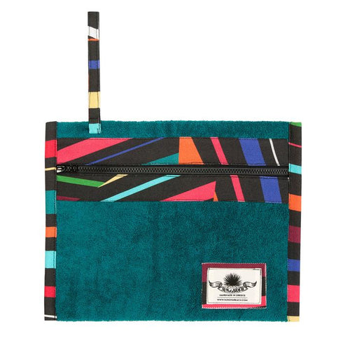Majorca Tiles Teal Holiday Pochette