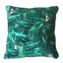 "Load image into Gallery viewer, ""I see you"" Green Printed Cushion 40 x 40 cm"