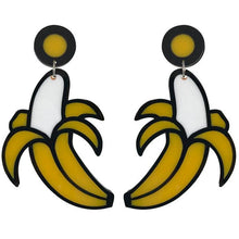 "Load image into Gallery viewer, ""Eat A Banana"" Perspex Earrings"