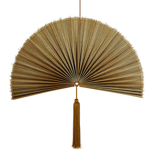 Wallhanging Bamboo Copper Fan Large