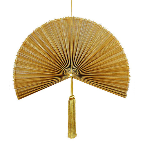 Wallhanging Bamboo Gold Fan Large