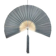 Load image into Gallery viewer, Wallhanging Bamboo Tie-Dye Grey Large Fan