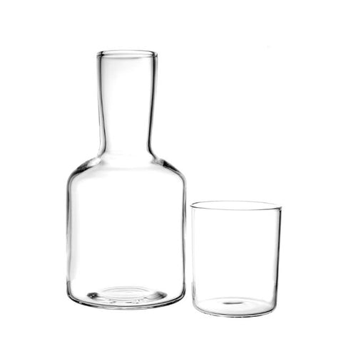 Lasi Borosilicate Glass Carafe And Cup - Clear