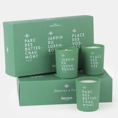 Set of 3 fragranced candles - Le coffret du flâneur