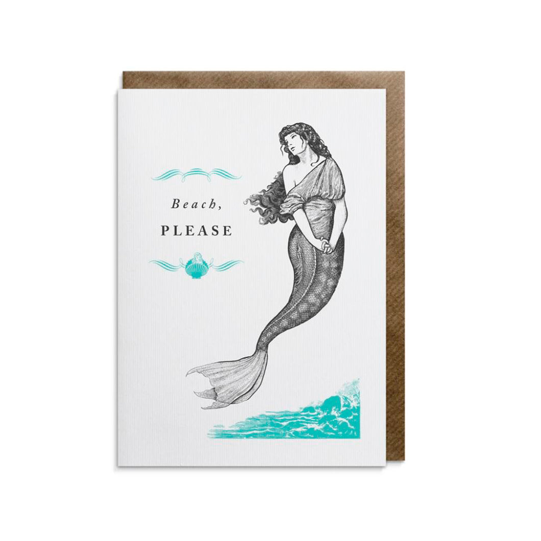 Beach, Please Greeting Card