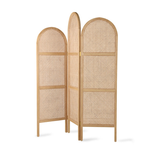Webbing Room Divider Natural Frame