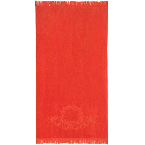 Just Orange Monochrome Beach Towel