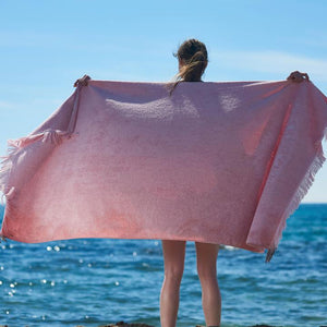 Just Pink Monochrome Beach Towel
