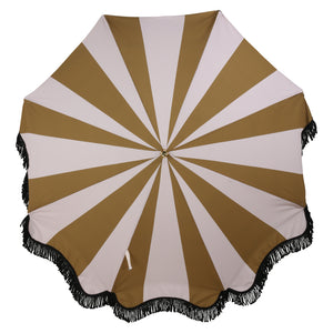 Beach Umbrella Classic Nude and Mustard