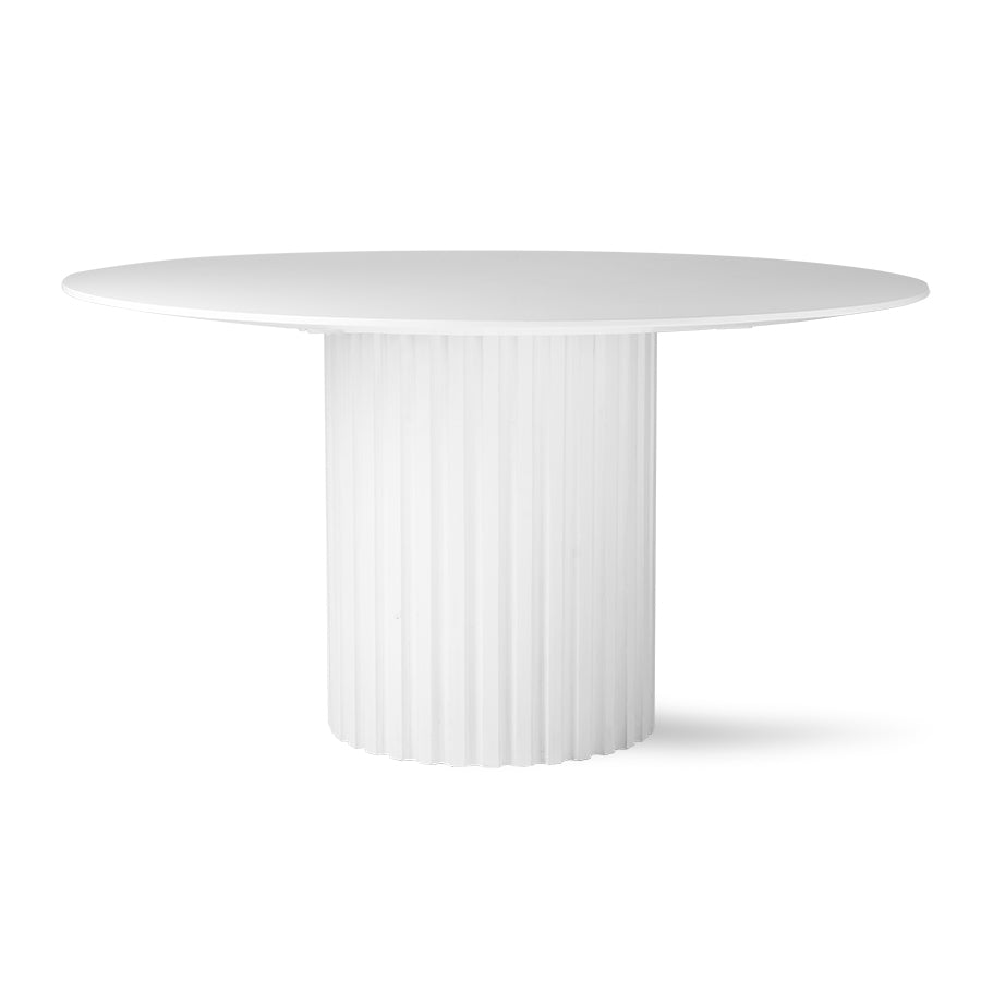 White Pillar Dining Table Round