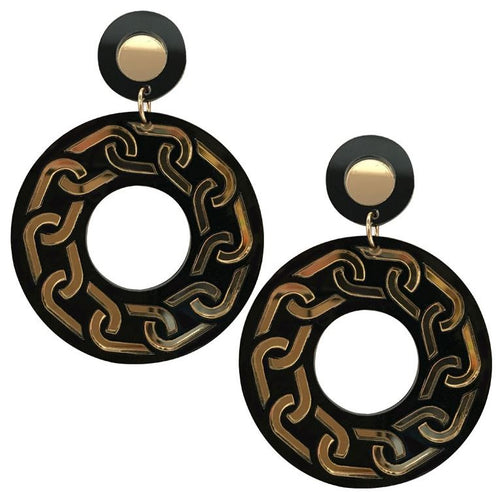 Palazzo Black Earrings