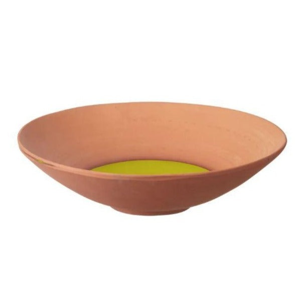 Paloma Terracotta Fruit Bowl - Lime Green