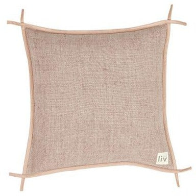 Dusty Pink Linen Cushion Cover