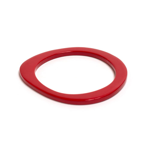 Blond Horn Red Lacquer Bracelet