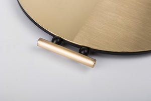 Satin Round Brass Tray