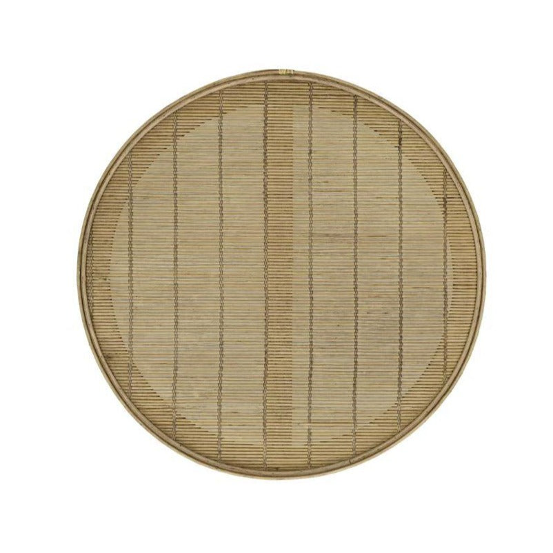 Shadow Bamboo Round Tray