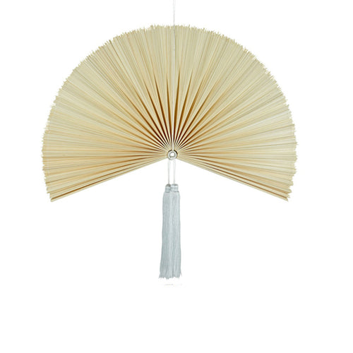 Wallhanging Bamboo Natural Fan Small