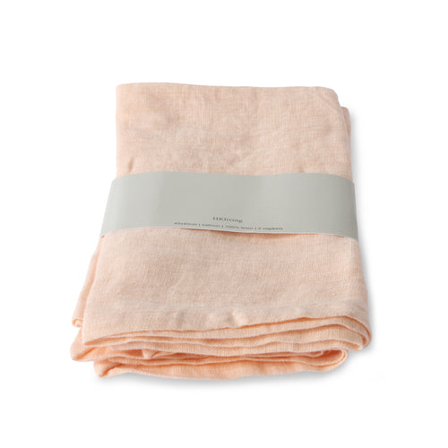 Set of Two Linen Napkin Salmon
