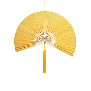 Wallhanging Bamboo Tie-Dye Yellow Fan