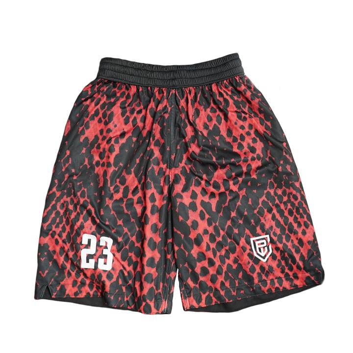 Red and Black Jersey Shorts