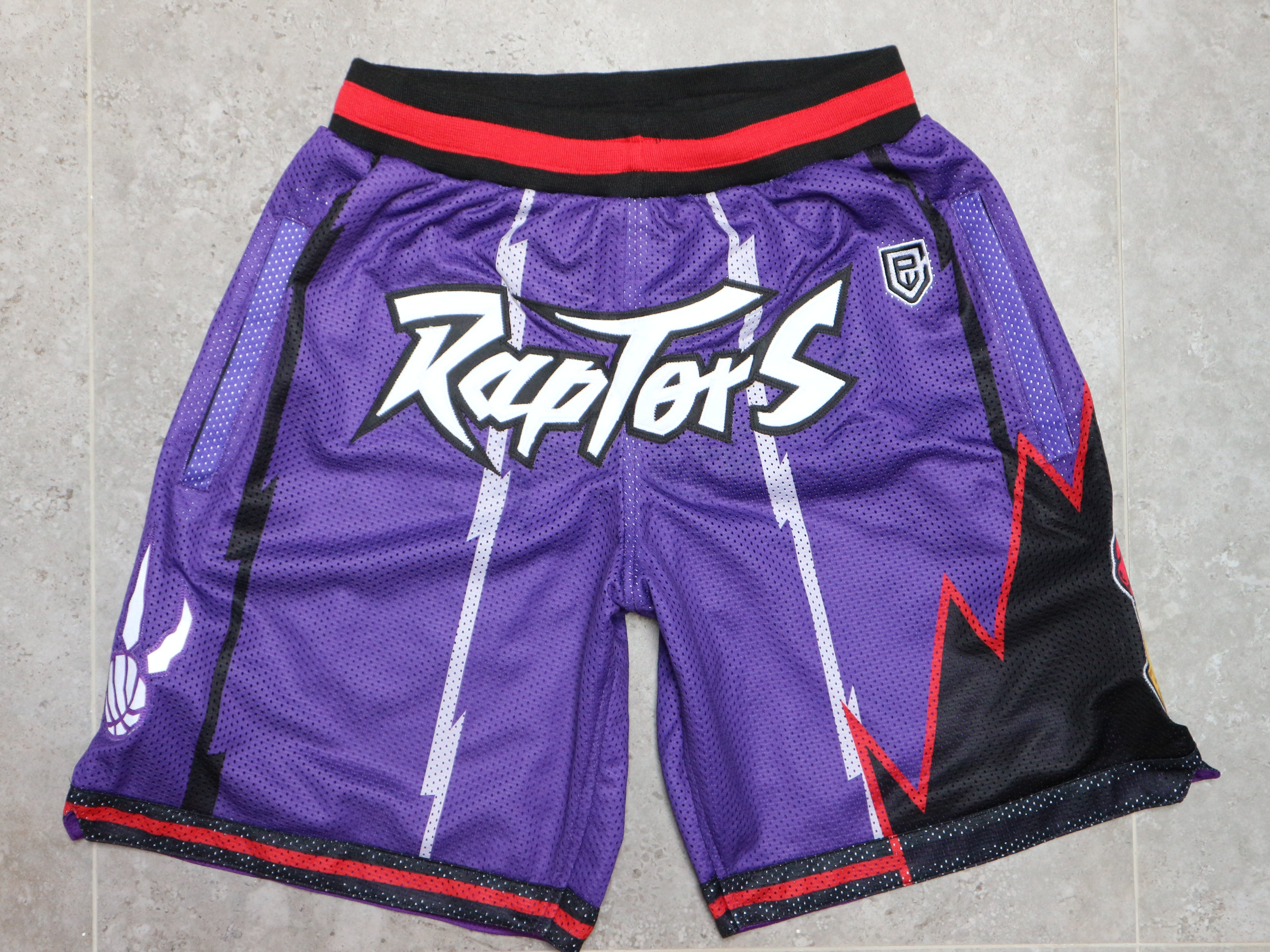 Purple Dino Championship Embroidered Shorts