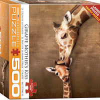 Giraffe Mother's Kiss Puzzle