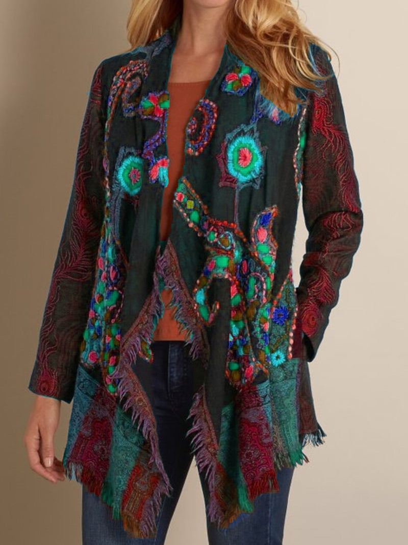 Plus Size Casual  Long Sleeve Outerwear