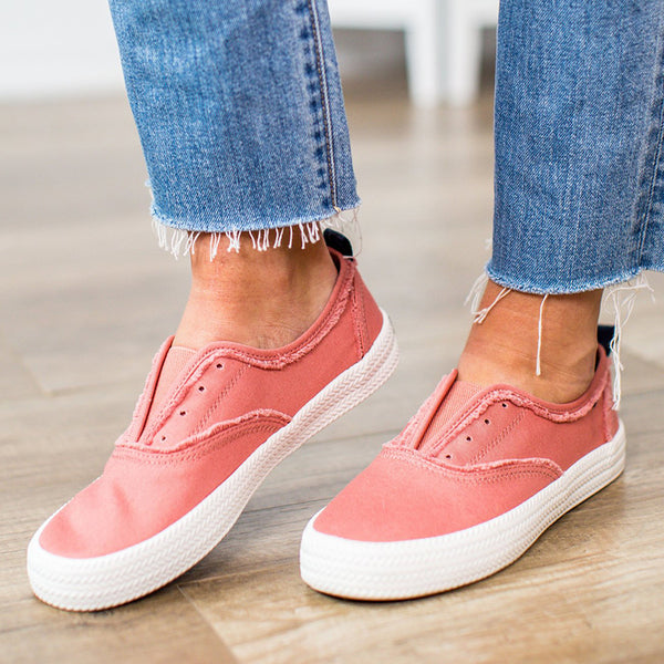 Women Breathable Washed Canvas Shoes