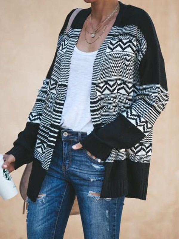 Black Long Sleeve Patchwork Outerwear
