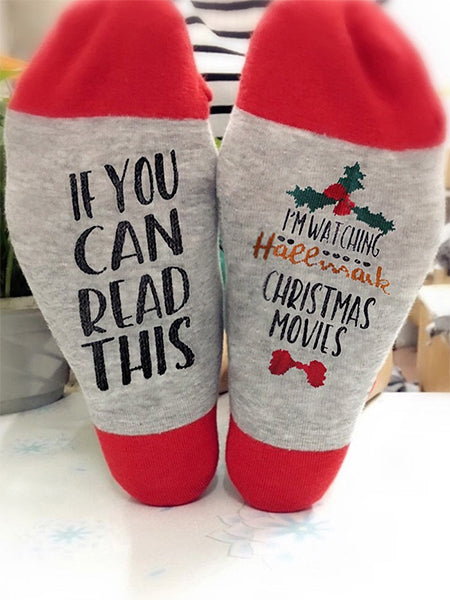 Watching Christmas Hallmark Movie Unisex Socks