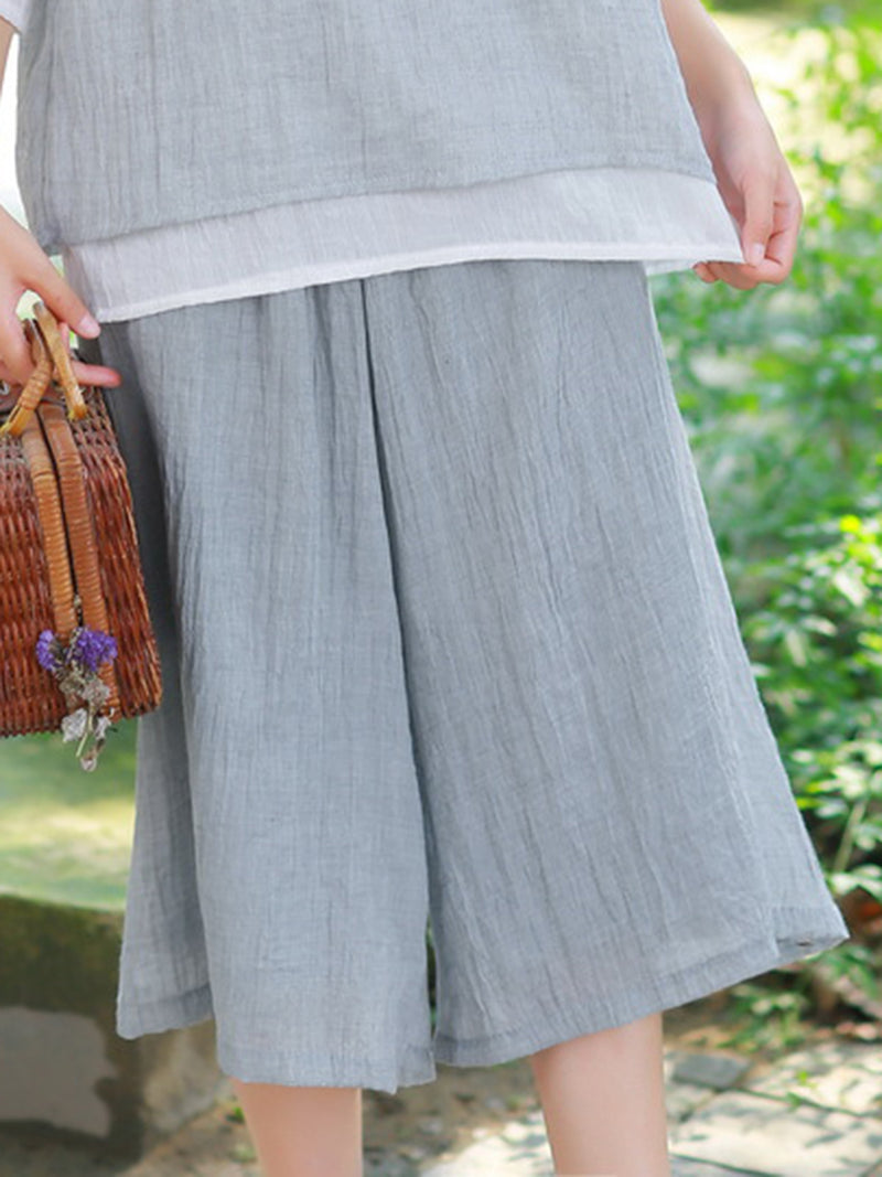 Linen Cotton Holiday Going out Pants